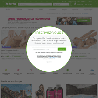Groupon® Site Officiel - Bons plans & Shopping en ligne jusqu'à -70-