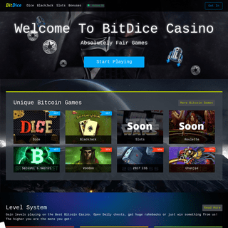 BitDice - Bitcoin Casino With Provably Fair Games. Top Bitcoin Games.