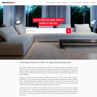 ArchiveBay.com - apartmentguide.com - Apartments for Rent - Your Trusted Apartment Finder Tool at ApartmentGuide.com