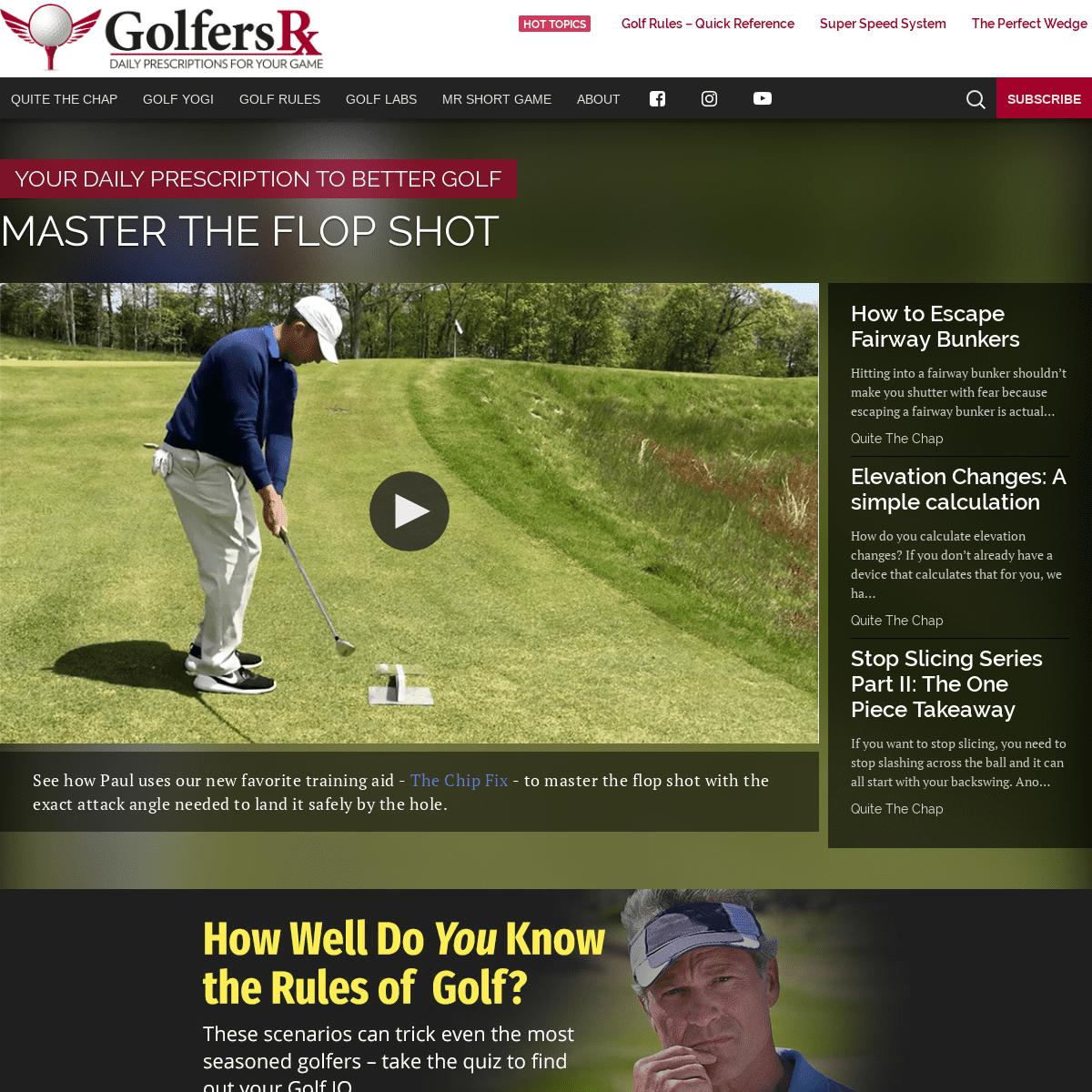 ArchiveBay.com - golfersrx.com - GolfersRx.com - Daily Prescriptions for Your Golf Game