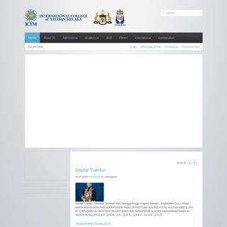ArchiveBay.com - icym.edu.my - Home - International College of Yayasan Melaka (ICYM)