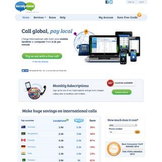 ArchiveBay.com - localphone.com - Cheap International Calls - Localphone