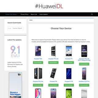 Huawei Downloads - Latest Huawei Firmware & OTA Updates