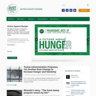 Just Harvest - Taking Action Against Hunger Since 1986