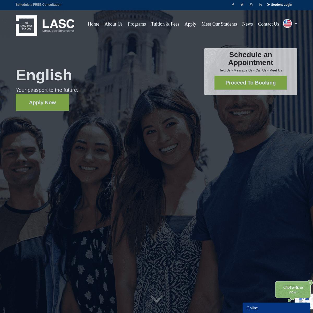 CA ESL School - SEVP Approved - Be English Proficient - LASC