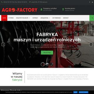 AGRO-FACTORY – Fabryka maszyn rolniczych