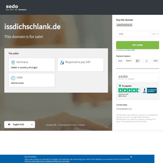 issdichschlank.de is available for purchase - Sedo.com