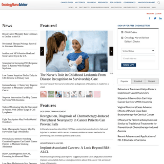 Breast, Lung, Brain, Bone Cancer - News, Research & Treatment Articles - ONA