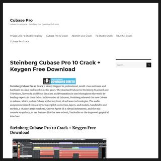 Steinberg Cubase Pro 10 Crack + Keygen Free Download,