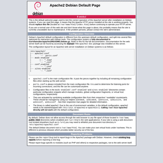 Apache2 Debian Default Page- It works