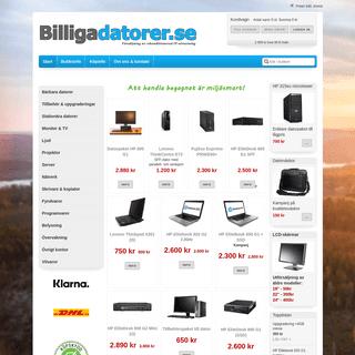 Billigadatorer.se webbutik