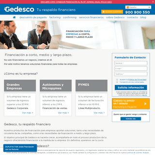 Gedesco- Financiación para empresas a corto, medio y largo plazo.