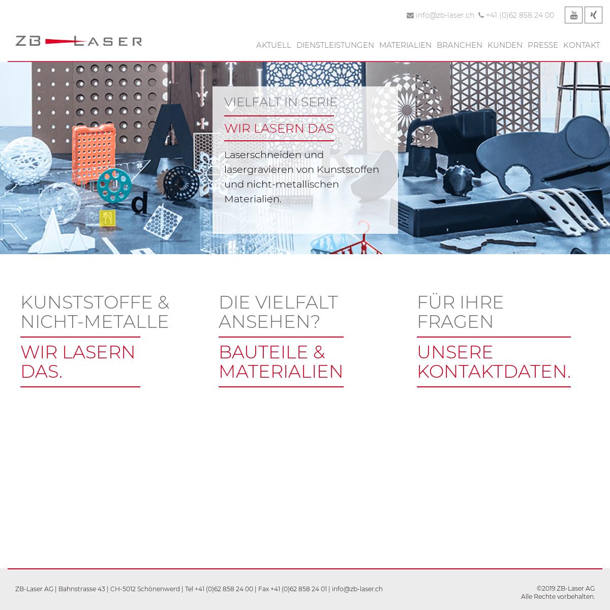 ArchiveBay.com - zb-laser.ch - ZB-Laser AG - Laserschneiden von Kunststoffen und nicht-metallischen Materialien