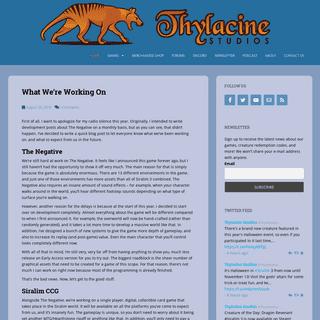 Thylacine Studios - An independent game development company