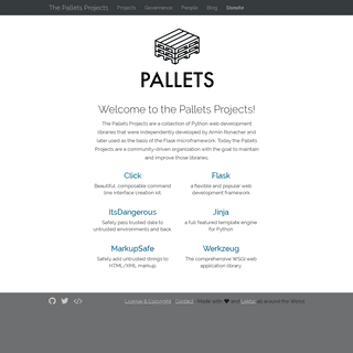 Hello - The Pallets Projects