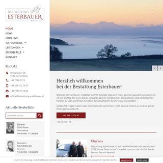 Home - Bestattung Esterbauer