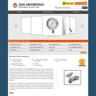 Shiv Enterprises, Pune - Wholesale Distributor of Baumer Pressure Gauges and SICK Photoelectric Sensors