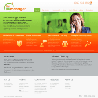 Your HRmanager - HR expertise on call for small to midsized businesses