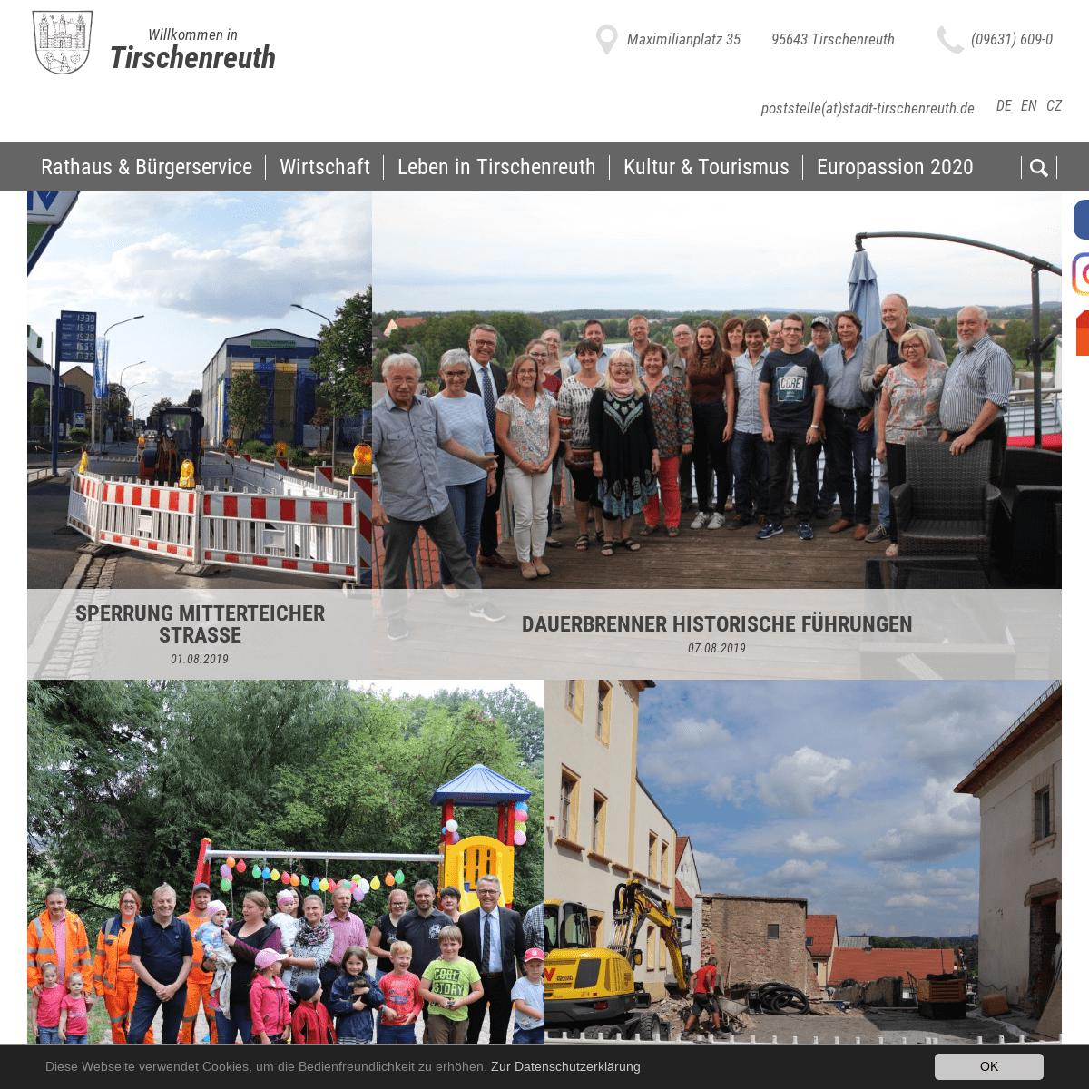 ArchiveBay.com - stadt-tirschenreuth.de - Startseite - Stadt Tirschenreuth in der Oberpfalz