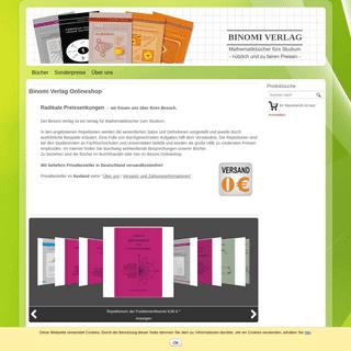 Binomi Verlag Onlineshop