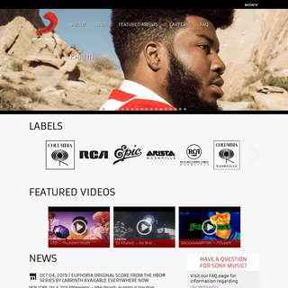 Sony Music - Official Website