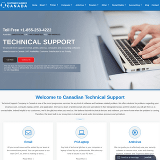 Technical Help Number Canada +1-855-253-4222