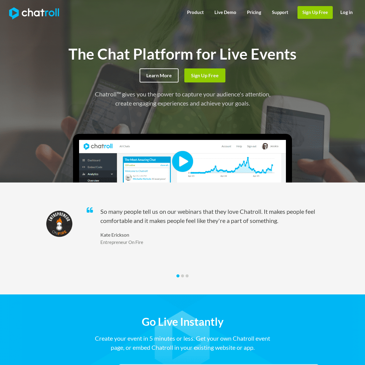 Chatroll — The chat platform for live events