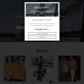 Designerex - Compare Providers and Rent Dresses