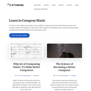 Art of Composing - Let's learn to compose together.
