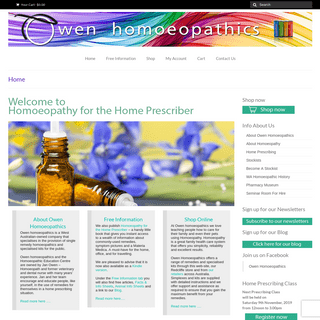 Owen Homeopathic Remedies, Homoeopathics Kits, Supplies & Products, Australia