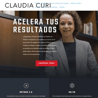 Claudia Curi - Capacitación, Conferencias, Coaching