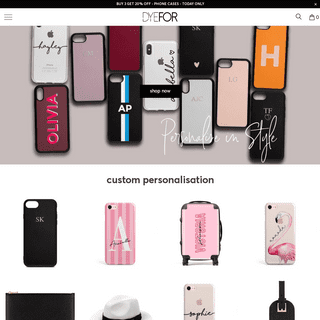 Monogram Phone Cases & Personalised Initials Phone Cases - Dyefor