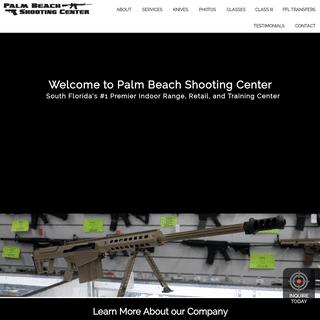 Palm Beach Gun Range, Firearm & Ammunition Sales - Palm Beach Shooting Center