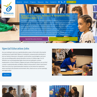 Special Education Schools, Programs and Resources - Watson Institute