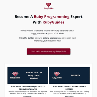 RubyGuides - Learn Ruby With Awesome Tutorials