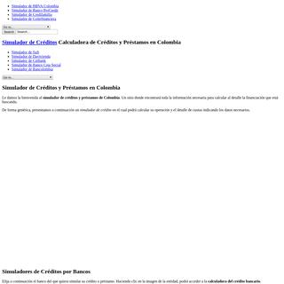 Simulador de Créditos y Préstamos en Colombia
