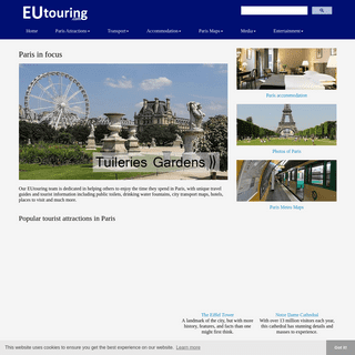 Paris tourist attractions and holiday travel guides to France