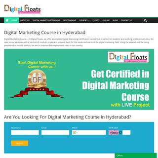 Digital Marketing Course in Hyderabad - Digital Marketing Training