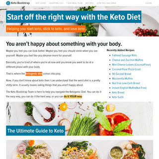 Helping You Bootstrap the Keto Diet