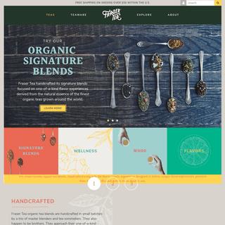 Fraser Tea- Organic Tea Custom Blended - Always Fresh, Only Organic