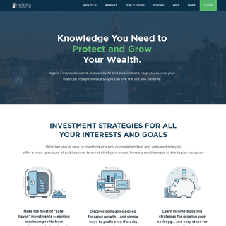 Agora Financial - Unbiased & Independent Financial Forecasts, Market coverage, Stock Analysis and MORE