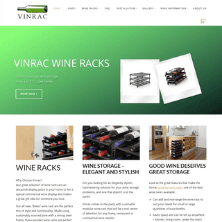 Wine Racks, Timber & Plastic Wine Storage System for the Home or Cellar