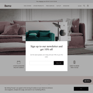 Custom covers - slipcovers for IKEA - sofas - armchairs - couches - Bemz