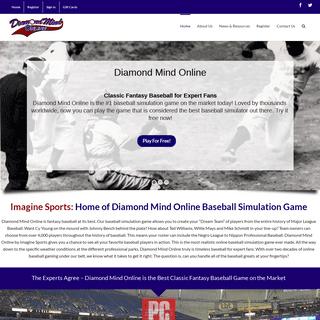 Imagine Sports - Diamond Mind Online - Baseball Simulation