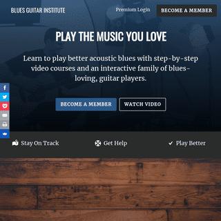 Blues Guitar Institute - Acoustic Blues. Simplified.