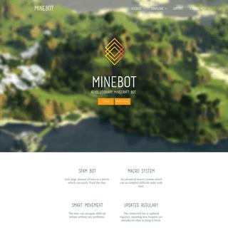 Minebot - revolutionary minecraft bot.