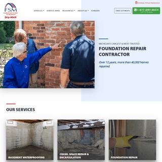 ArchiveBay.com - drymich.com - Basement Waterproofing, Foundation Repair, Crawl Space Insulation - Foundation Systems of Michigan