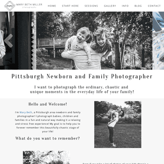 Pittsburgh Newborn and Family Lifestyle Photographer - Mary Beth Miller