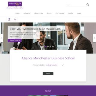 Alliance Manchester Business School UK - Alliance MBS