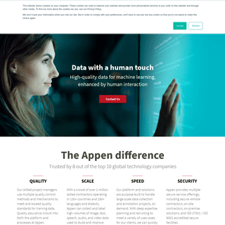 Appen - High-Quality Training Data for Machine Learning